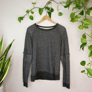 Volcolm Grey Knit Crew Neck Sweater Charcoal Cozy
